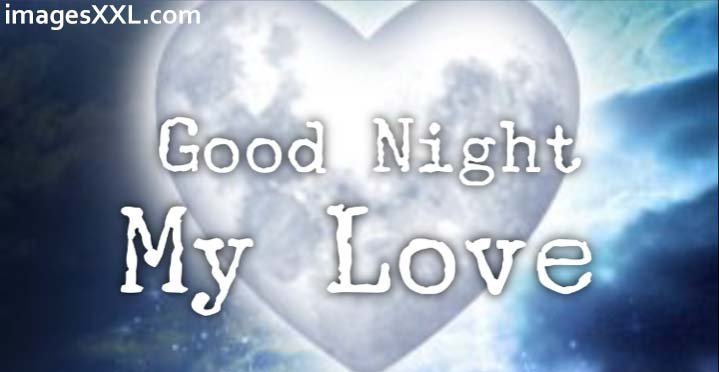 Good night moon heart