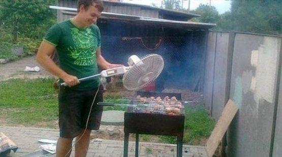 fan on the fire