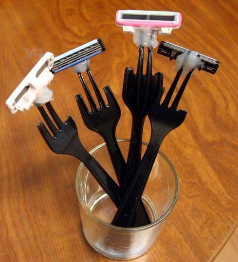 plastic cutlery become razor blades