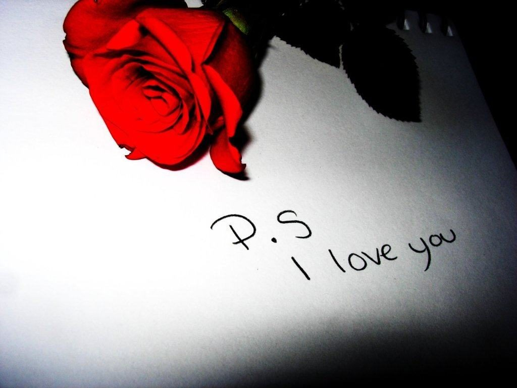 I love you romantic letter / mail