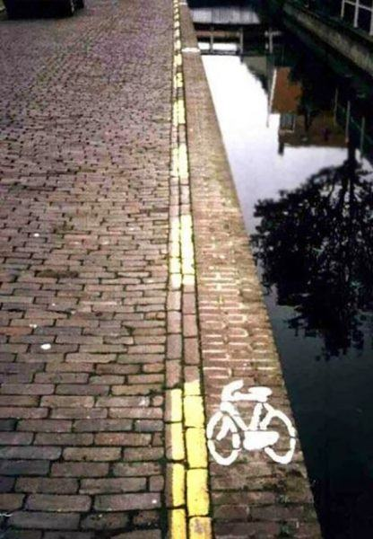 funny bike path
